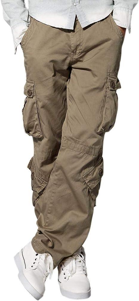 "56/"" Workwear Pantaloni Da Uomo Cargo Combat Lavoro Pantaloni Nero Plain CAMOS Taglie 28/"""