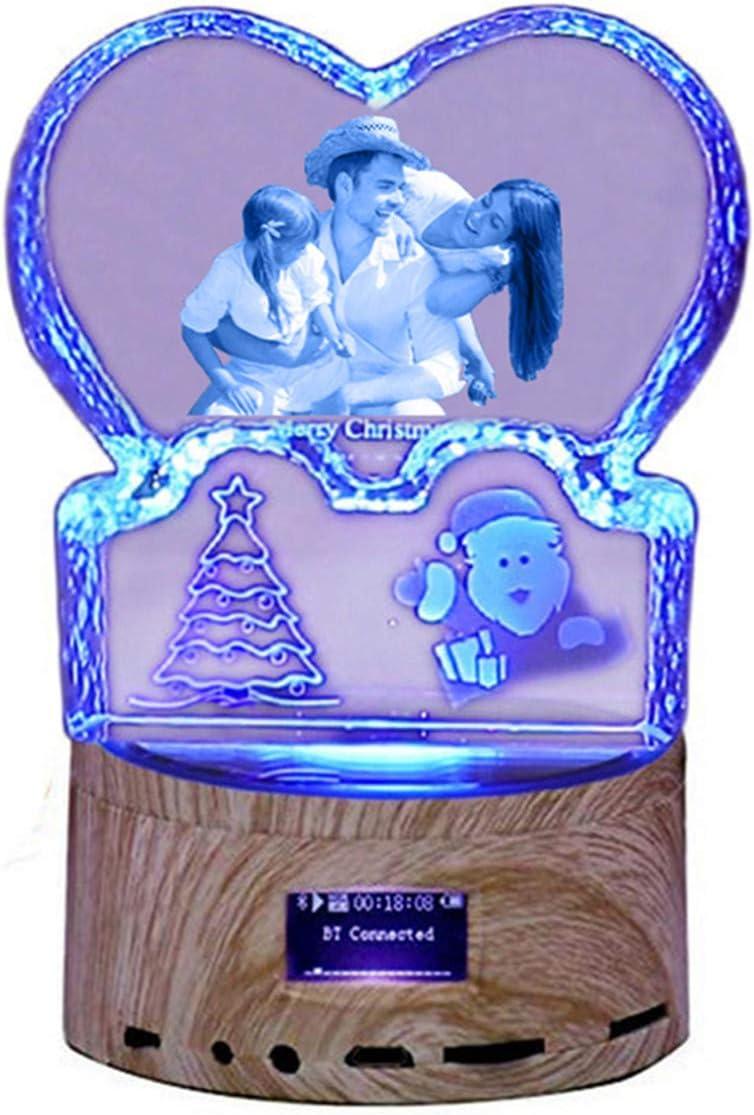 FACOCO Lámpara Personalizada Grabada 3D Foto Bluetooth Música ...