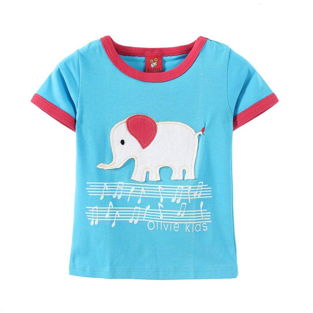 Mud Kingdom Kid's T-Shirt with Elephant Embroidery ZS0039