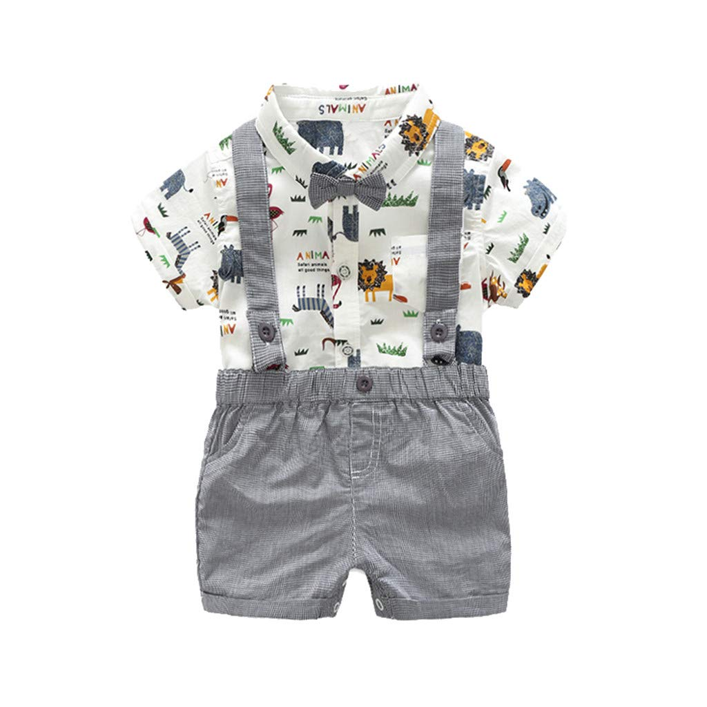 020622917 2Piece Infant Baby Boys Gentleman Outfit Set