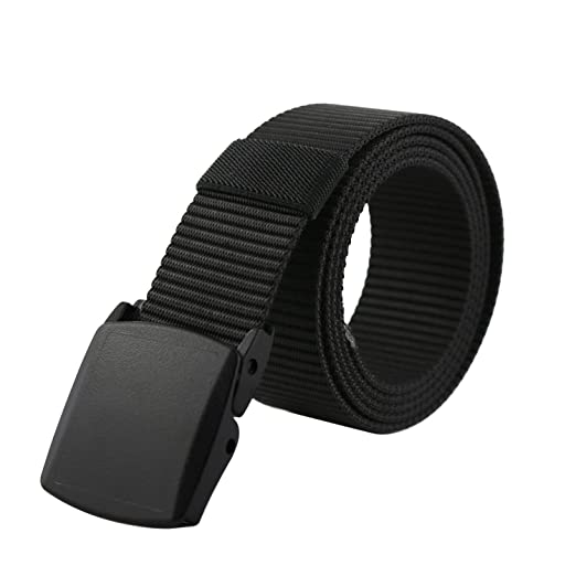 Amazon.com  Men nylon military belt unisex YKK Nickel Free plastic ... ac82a70d54