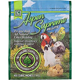 Kaytee Products Aspen Supreme Bedding For Birds & Small Animals 455 Cubic Inch Packs/7.4L