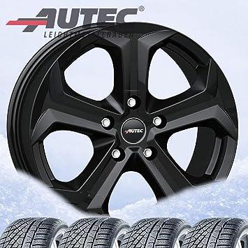 4 Invierno ruedas autec Xenos 7 x 17 ET49 5 X 114,3 Negro Mate