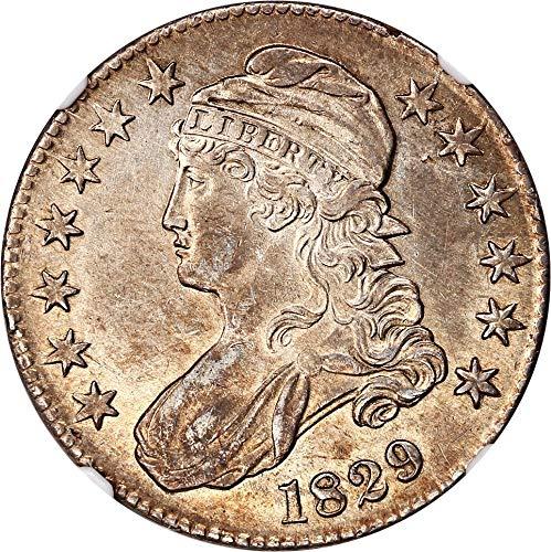 1829 P Bust Half Dollars Half Dollar AU55 NGC