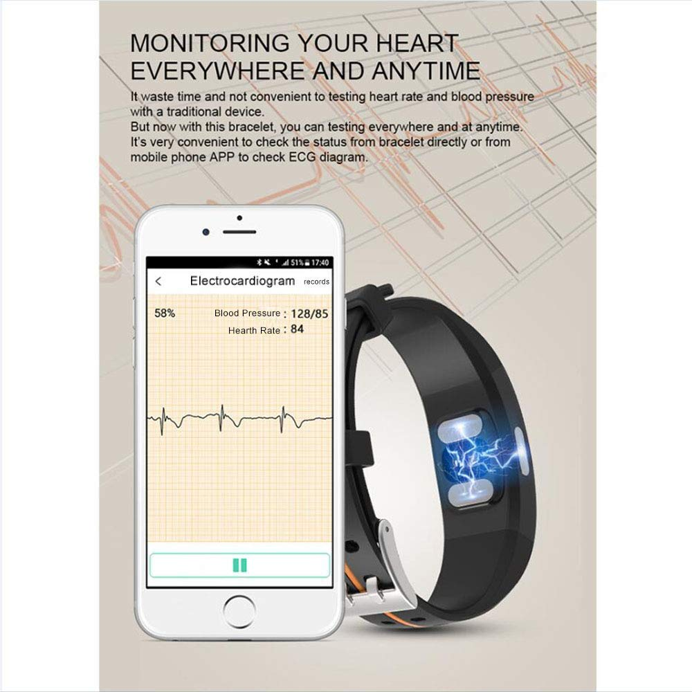 Amazon.com : Idol Fitness Tracker, Heart Rate Monitor ECG PPG Calorie Counter Sleep Pedometer Smart Bracelet Activity Tracker Waterproof Bluetooth Smart ...