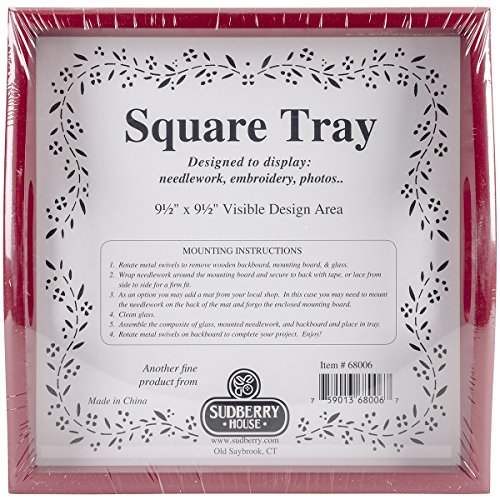 """Sudberry House Small Square Tray, 10 x 10"""", Red"""