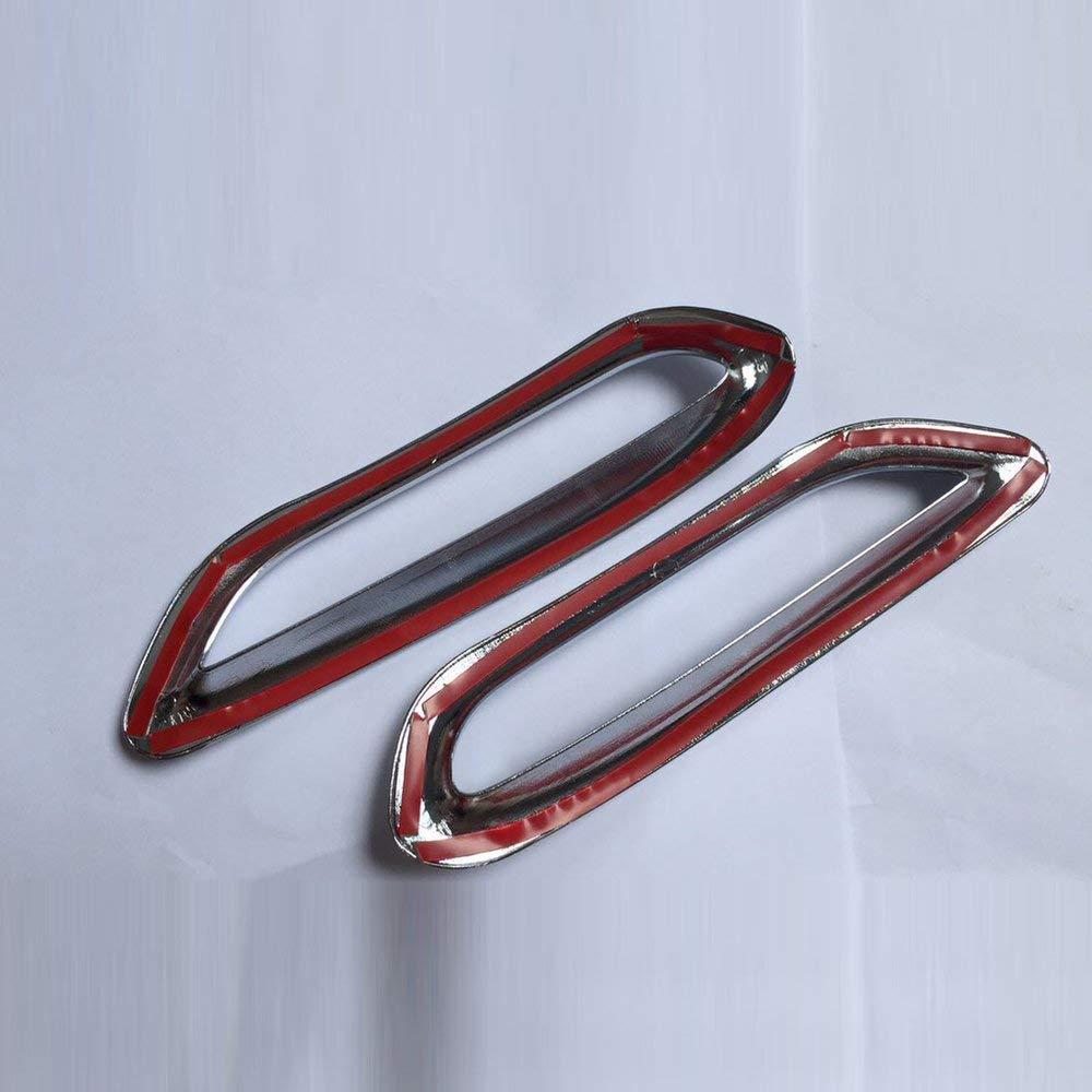 Yaoaomitn Paraurti Posteriore Cromato Lucido 2 Pezzi per Nissan Qashqai J11 2014-2017 Argento