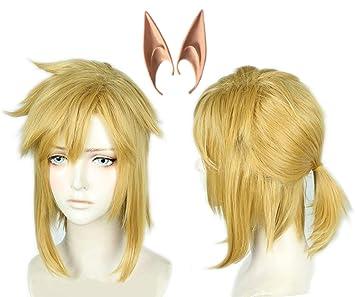 Linfairy Short Blonde Wig Halloween Cosplay