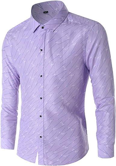 Xmiral - Camisa Casual - Manga Corta - para Hombre Violeta XX-Small: Amazon.es: Ropa y accesorios