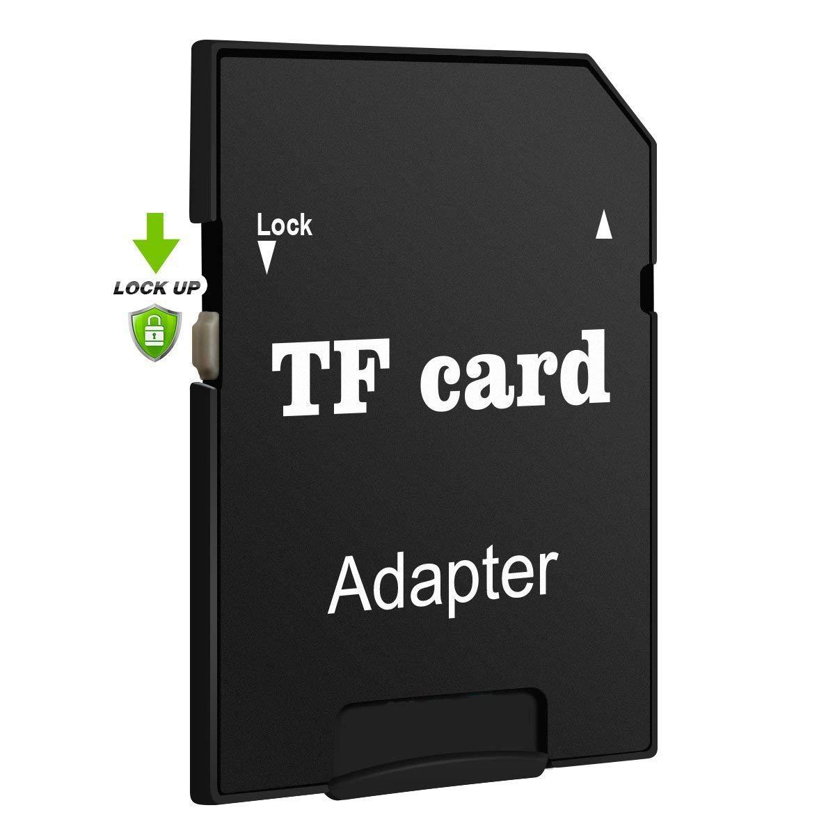 POPRUN 64 GB Micro SD Karte Class 10 Speicherkarte TF Karte SD-Karte Speicher Memory Card mit SDHC Adapter Schwarz