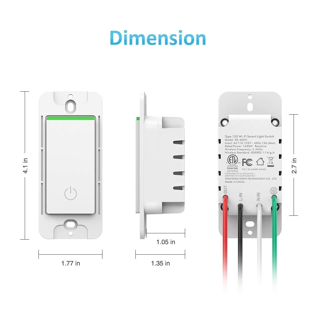 Smart Wi Fi Light Switch Wireless Wifi Wall Remote Control Outlet Bo Wiring Likewise How To Wire An Works With Alexa Google Home Ifttt No Hub Required Single Pole Only Netural