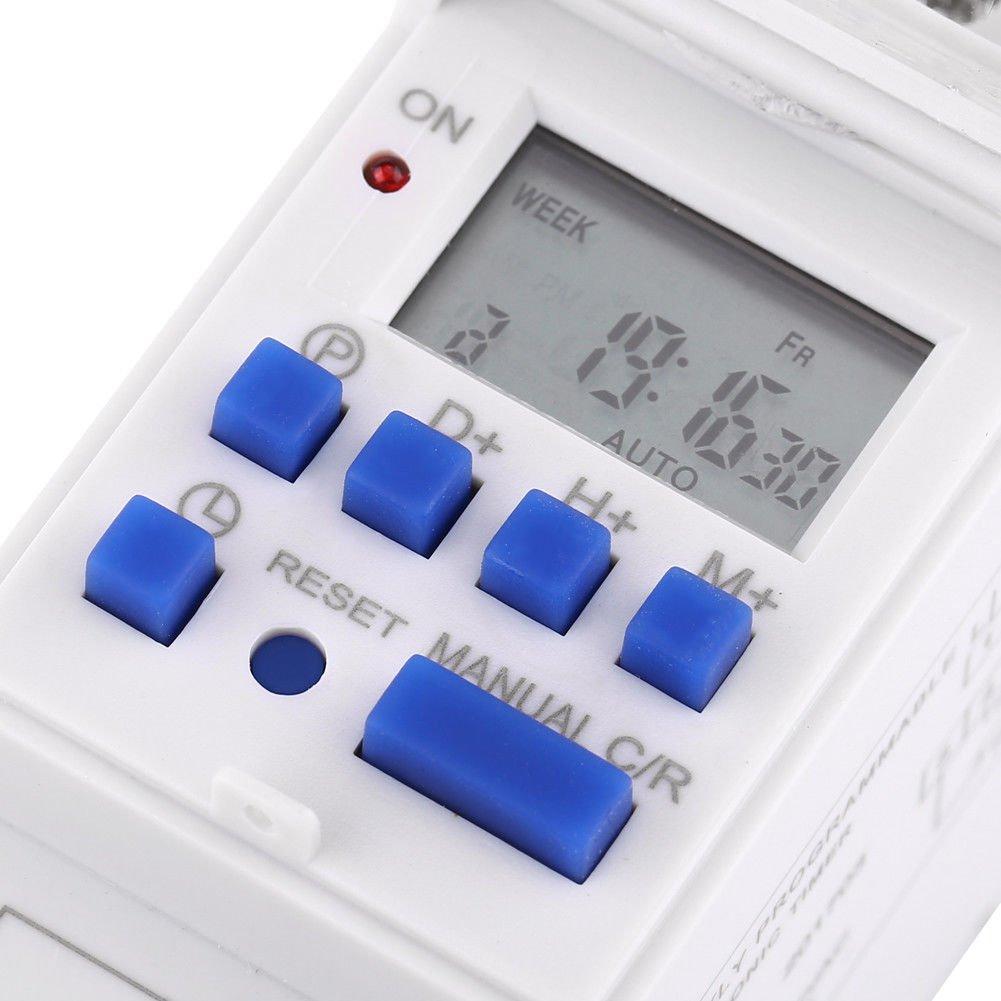 12V 7 Day, 24 hrs Programmable Timer 12VDC, 16A @240Vac Relay Switch, DIN mount 12 V