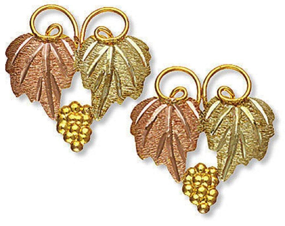 Landstroms 10k Black Hills Gold Classic Earrings, for Pierced Ears - A106P