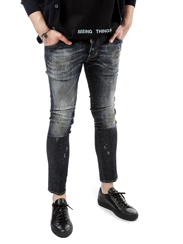 [ディースクエアード Dsquared2] 17FW Skater メンズ Jeans LB0300 S30330 470 kbb1130 [並行輸入品] B077TLNFKB   54