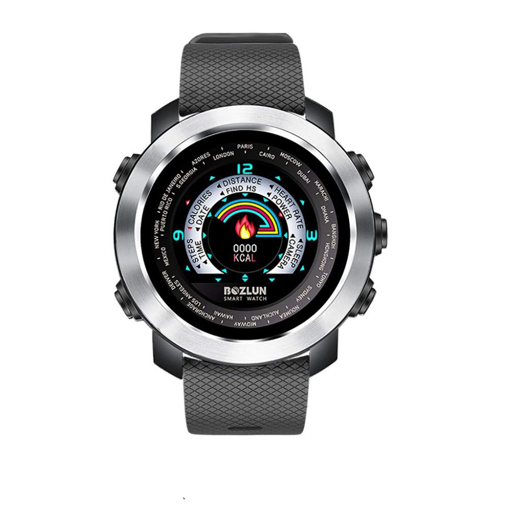 Smartwatch Waterproof - Yezijin W30 Sports Waterproof Smart Watches with Heart Rate Call SMS Stopwatch Pedometer for Father Men Kids Youth Teens Boyfriend Lover's Birthday Gift by YEZIJIN watch