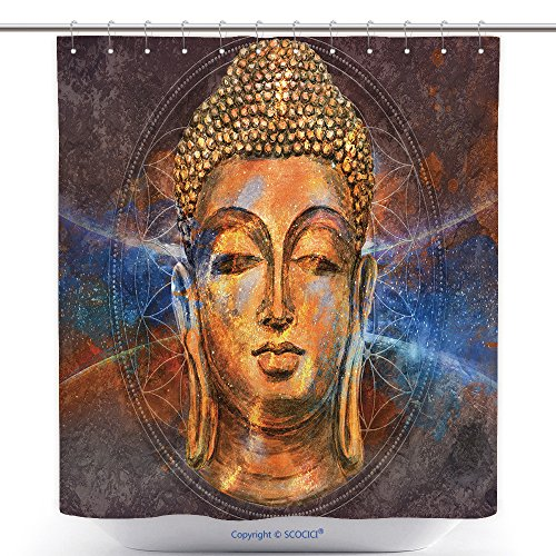Star Lord Costume Ebay (Cool Shower Curtains Head Of Lord Buddha Digital Art Collage Combined With Watercolor Buddha Purnima Background 598072331 Polyester Bathroom Shower Curtain Set With Hooks)