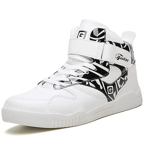 e191fed8588a6 ASHION Hombre High Top Shoes Zapatillas Altas para Mujer Zapatillas de  Baloncesto  Amazon.es  Zapatos y complementos