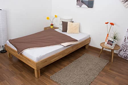 Estructura de cama madera 120 x 200 cm Roble.: Amazon.es: Bricolaje y herramientas