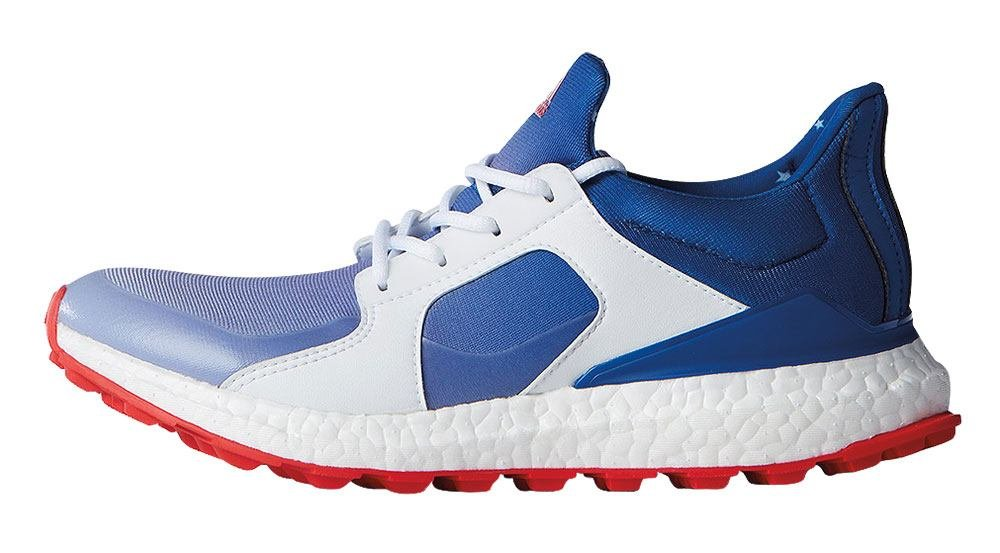 adidas Women's Climacross Boost Spikeless Golf Shoes Blue/White Medium 8