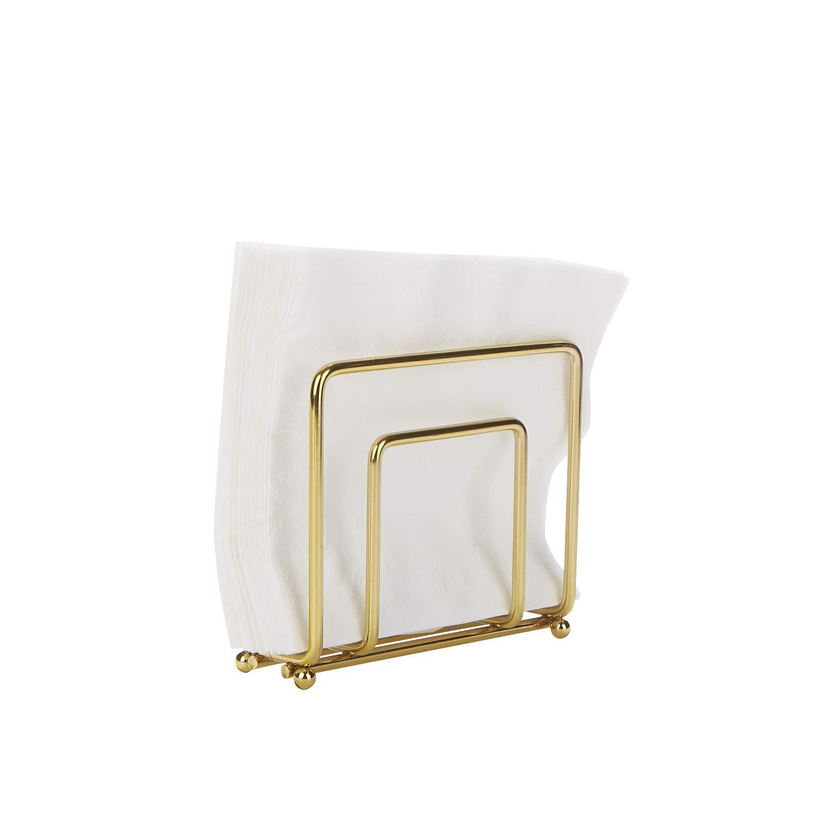 Mind Reader GLDM Stainless Steel Decorative Holder, Kitchenware, Countertop, Napkin Organizer, Gold, One Size by Mind Reader
