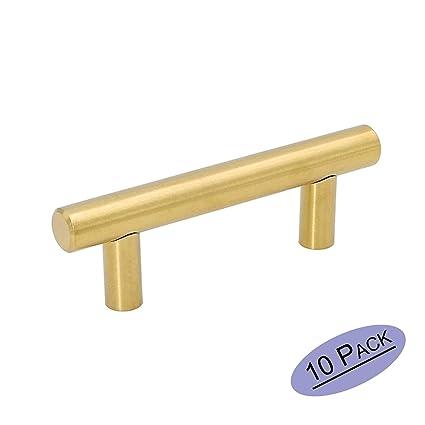 Goldenwarm Drawer Pulls Brushed Brass Knobs Brushed Gold Cabinet