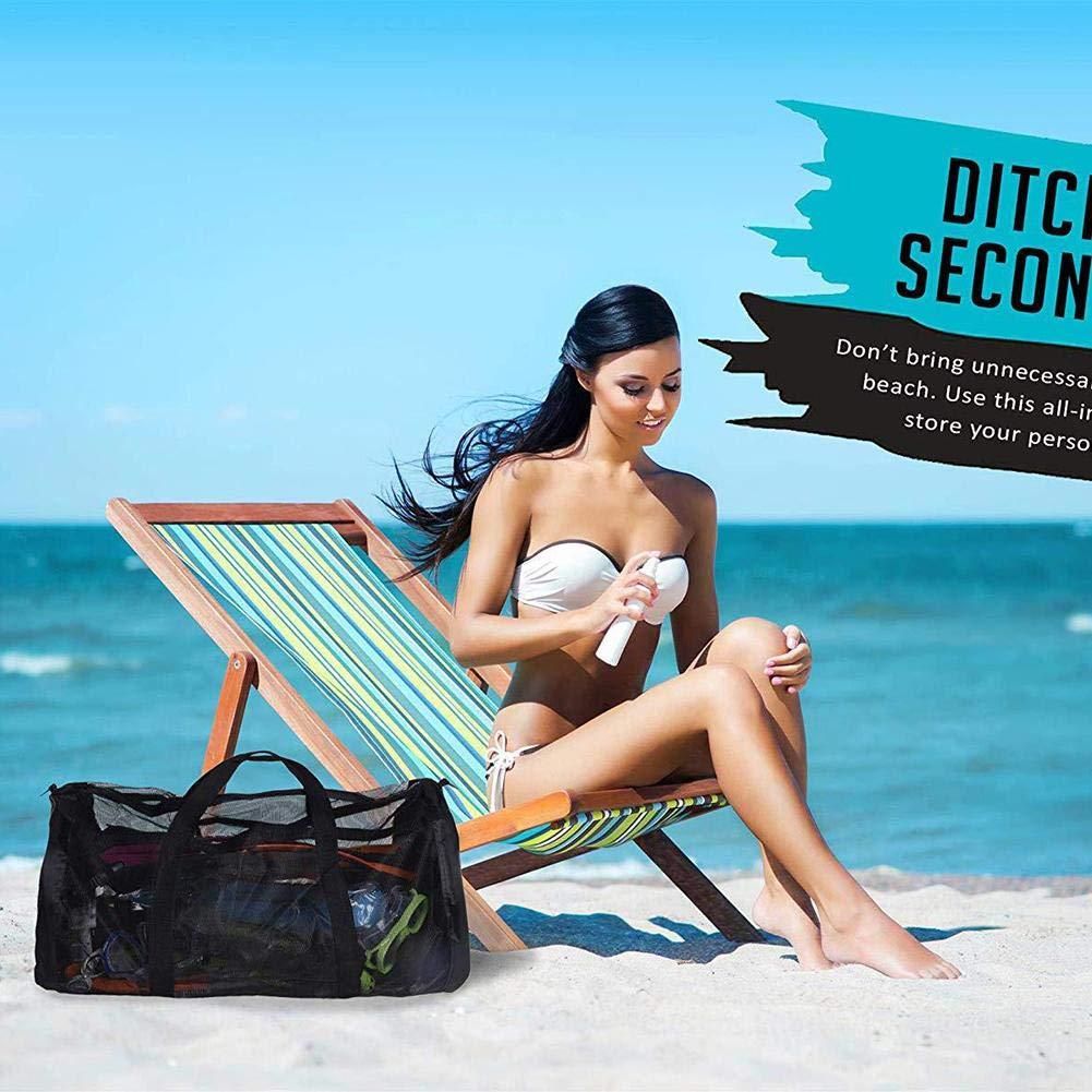 Sac de rangement pour la plage Sac de rangement pour sac de sport /à mailles avec bandouli/ère Grande capacit/é Sac de rangement pour maillot de bain r/ésistant /à la corrosion pour maillot de bain plong/ée