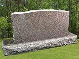 Dakota Mahogany Granite Upright Serpentine Monument Double Marker Split Face Tablet Large Headstone Gravestone MN-136 (1)