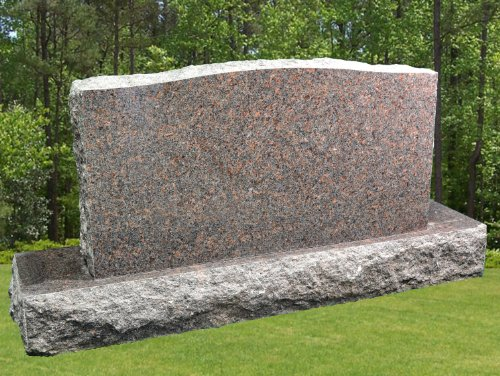 Mahogany Granite Dakota (Dakota Mahogany Granite Upright Serpentine Monument Double Marker Split Face Tablet Large Headstone Gravestone MN-136 (1))