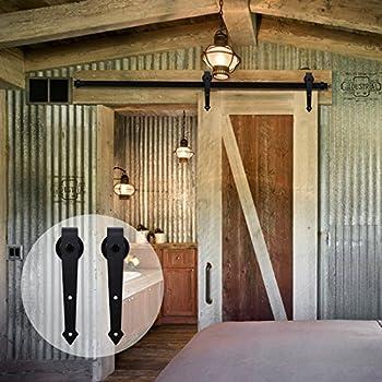Amazon Ccjh 9ft Country Steel Sliding Barn Interior Door