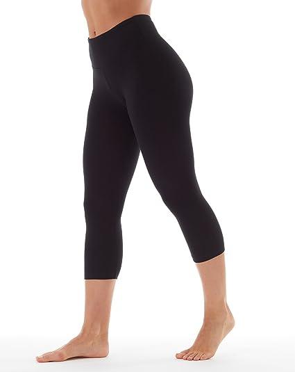 da2f226dded5f Amazon.com: Bally Total Fitness Womens Tummy Control Capri Legging: Clothing