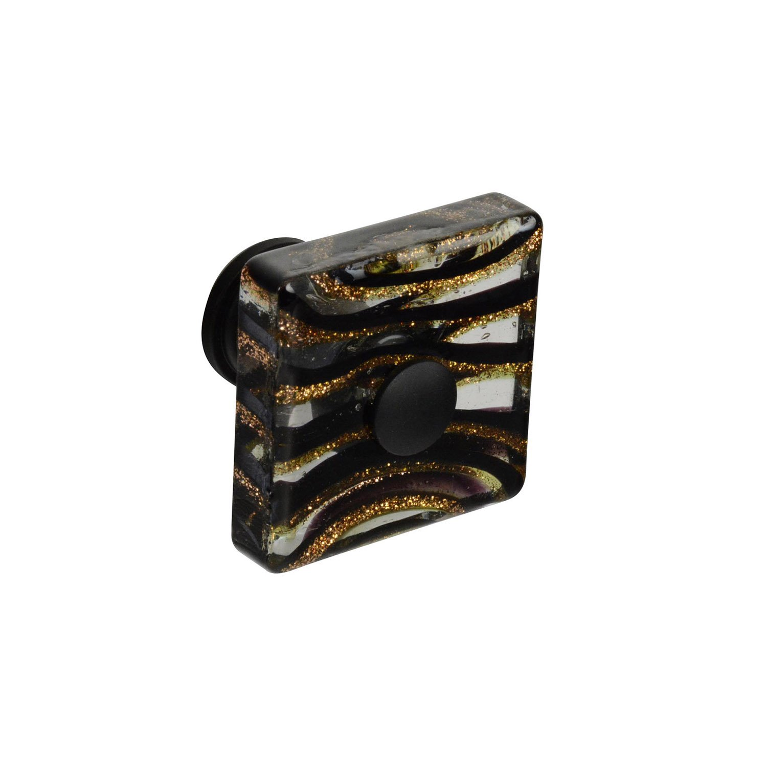 Knob Deals #93205 - 1-1/2 in. (38mm) Milky Way Square Glass Knob - 10 Pack