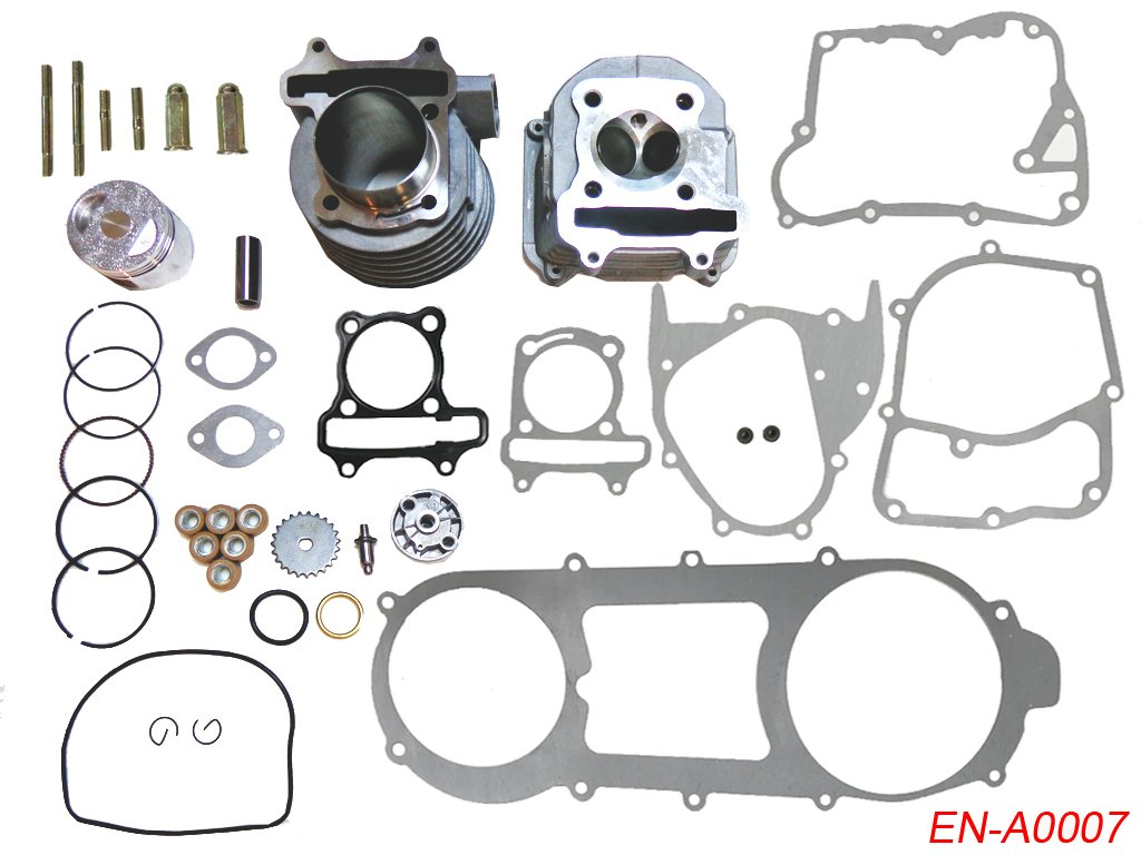Complete Engine Rebuild Kit Cylinder Engine Head Piston Kit for 150cc GY6 150 4 Stroke Chinese Scooter Moped 157QMJ Sunl Roketa Peace JCL Kids ATV Parts