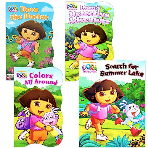 Nickelodeon Dora The Explorer Baby Toddler Board Books - Set of Four