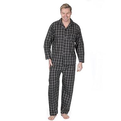 99f63837c7 CargoBay Mens Check and Stripe Soft Comfortable Multibuy Pyjama Set  Amazon. co.uk  Clothing