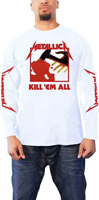 Metallica Kill Em All (Negro) Camisa De Manga Larga: Amazon.es: Ropa y accesorios
