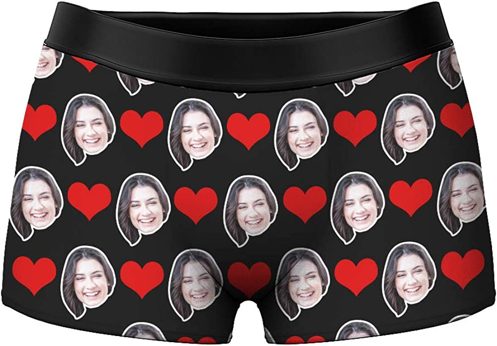 Mens Funny Face Boxer Shorts Novelty Custom Briefs Underpants Printed with Photo