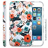 iphone 6 case rifle paper co - iPhone 6S Case for Girls, Cute 6S Case, Dimaka Floral Pattern Double Layer Protective Case with Fancy Glossy Surface for iPhone 6 and 6S 4.7