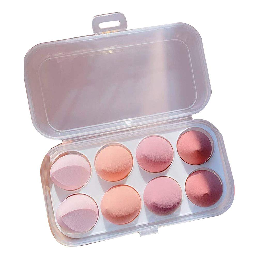 Xiaoxingyun 8 Pcs Makeup Sponge Set - Cosmetics Beauty Sponge Blender, Beauty Foundation Blending Sponge, Latex Free Washable Applicator Puff for Liquid, Cream, and Powder