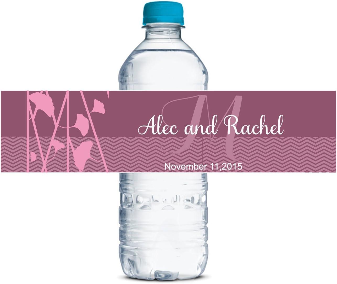 Personalizzati Etichette Delle Bottiglie Di Acqua Matrimonio Autoadesiva Impermeabile Adesivo Personalizzato 8 X 2 Pollici 70 Etichette