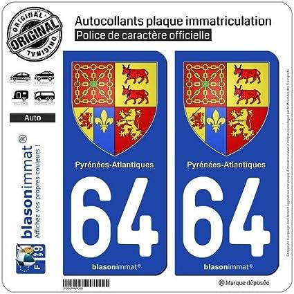 Run-R Stickers-Pegatinas de placa de matrícula con 64-Escudo de ...