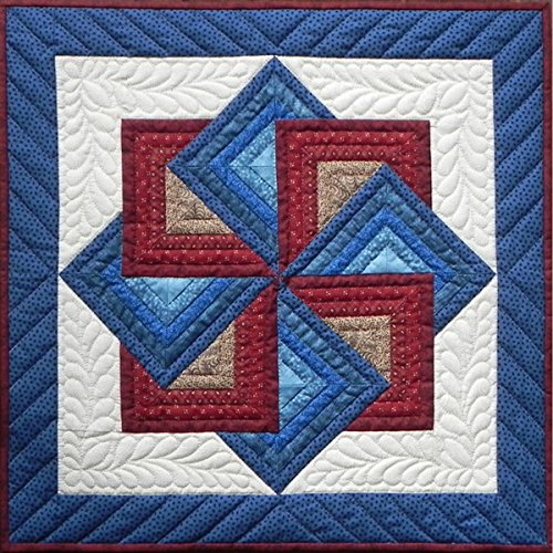 Quilt Wall Hanging - Rachel's of Greenfield Starspin Wall Quilt Kit, 22-Inch x 22-Inch