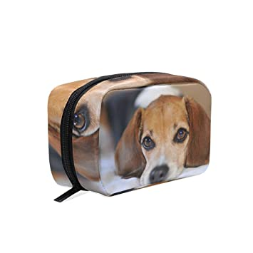 1ffe5ef9e253 Amazon.com : Beagle Dog Cosmetics Bag Makeup Bag Case Pouch for ...