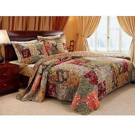 Chicago Bears Full Sheet Set (Global Trends Antique Chic Quilt Set (Full/Queen))