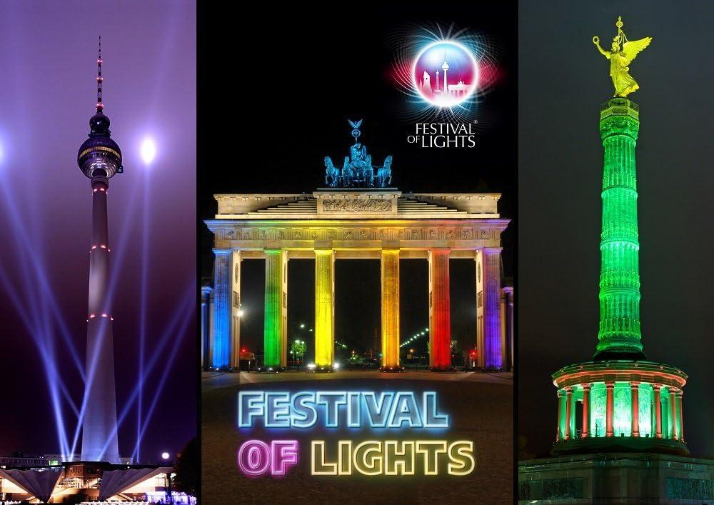 3 D Festival of Lights Berlin Brandenburger Tor Wackelkarte