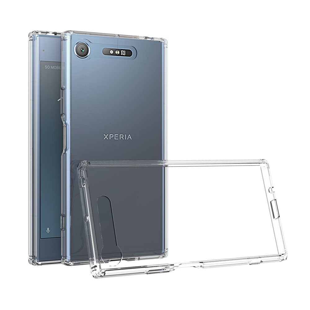 Xiu7 Clear Case for Sony Xperia XZ1 Compact, ultra-slim and lightweight design-Transparent