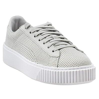 d4805d4b683 PUMA Women s Basket Platform Perforated Sneakers