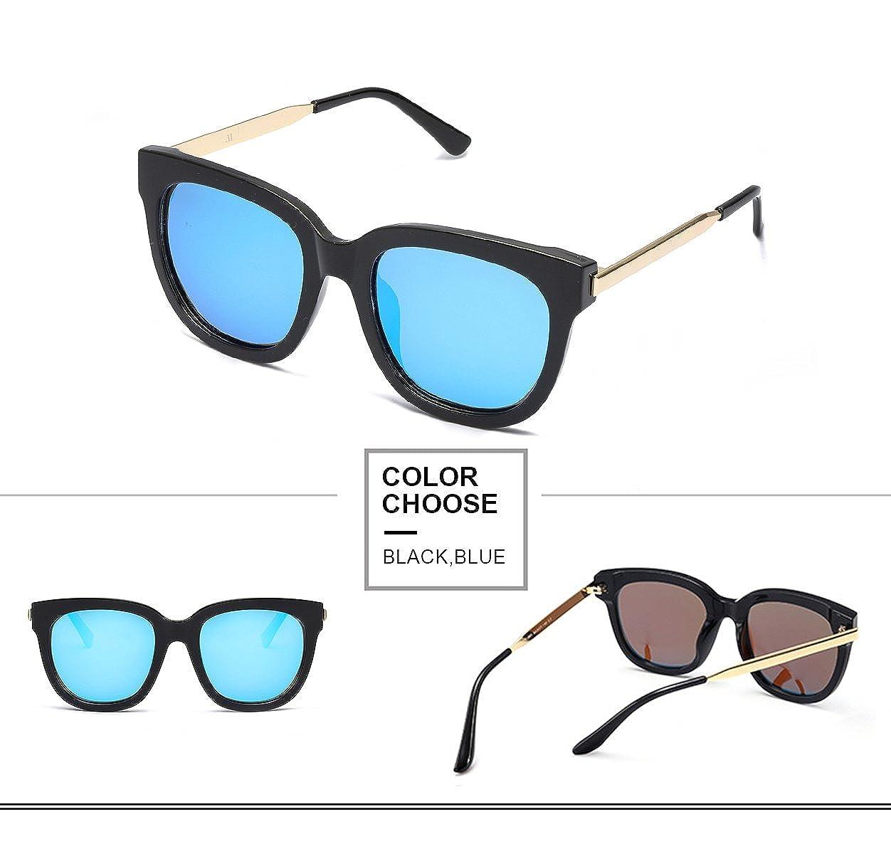 Gafas de Sol Mujer Polarizadas - Clásico Espejo Estilo Marco de Grande 38f3e0a0ae52