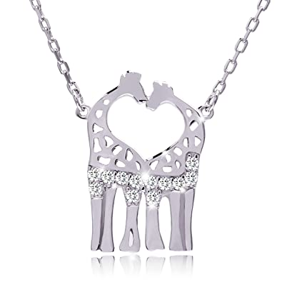 necklace pendant giraffe product silver gold