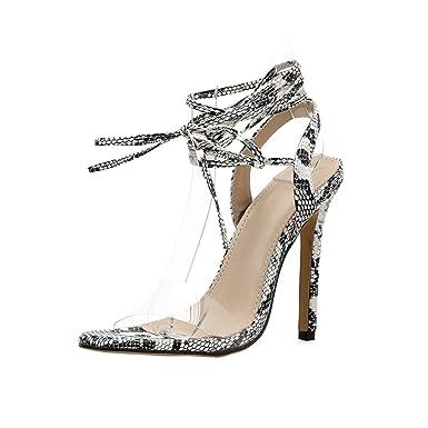 12488852584 DENER Women Ladies Summer High Heels Sandals, Transparent Straps ...