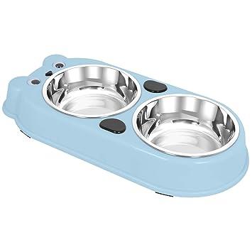 Amazon.com: UPSKY - Cuencos dobles para perro, gato, de ...